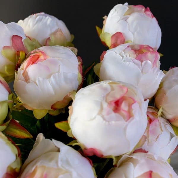 Kunstbloem prachtige dichte pioenroos