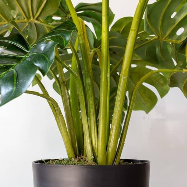 Kunstplant Monstera 60 cm steel