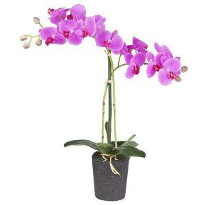 Kunstbloem orchidee roze 2 tak