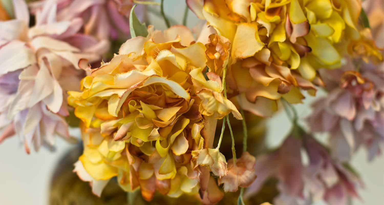 Droogbloemen Kunstbloemen Roselin