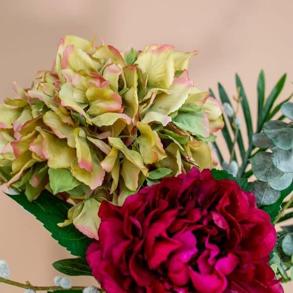 Kunstbloem boeket Hortensia