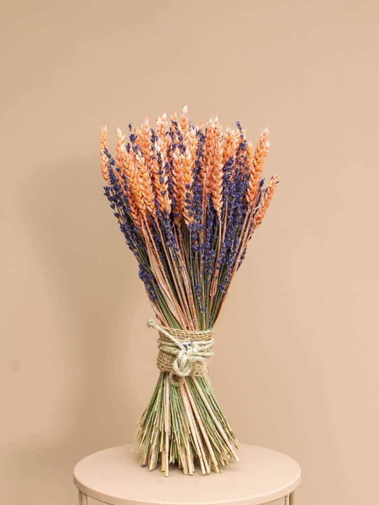 Lavendel schoofje roze tarwe