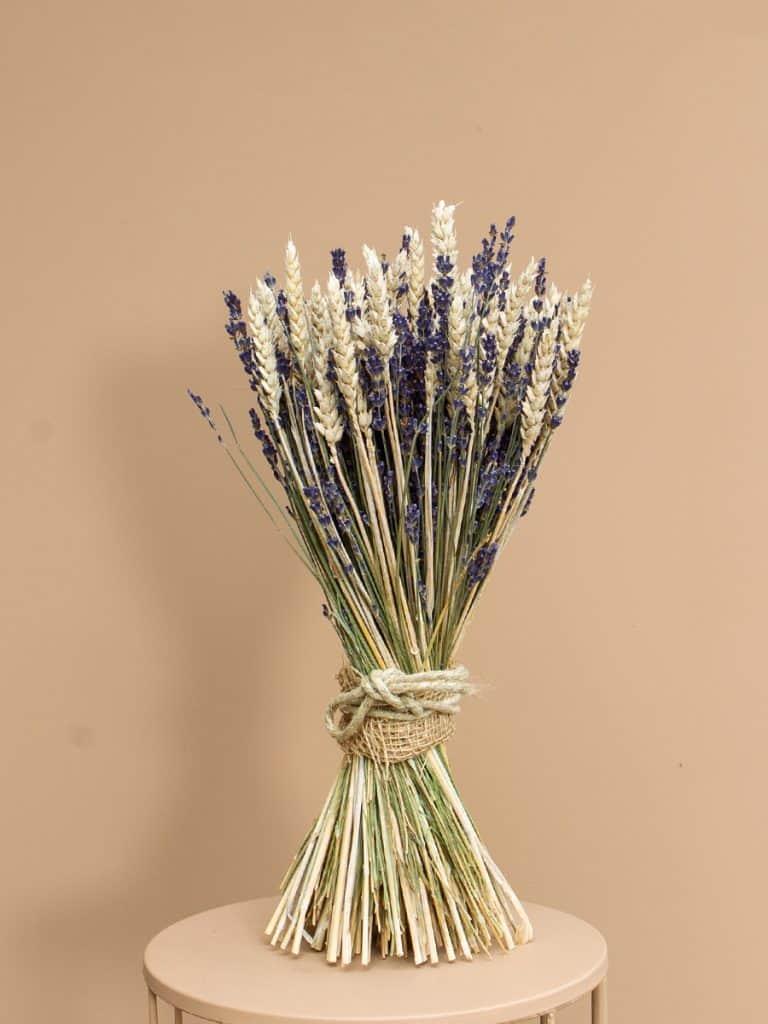 Lavendel schoofje tarwe wit