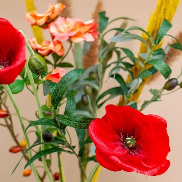 Kunstbloem boeket Red