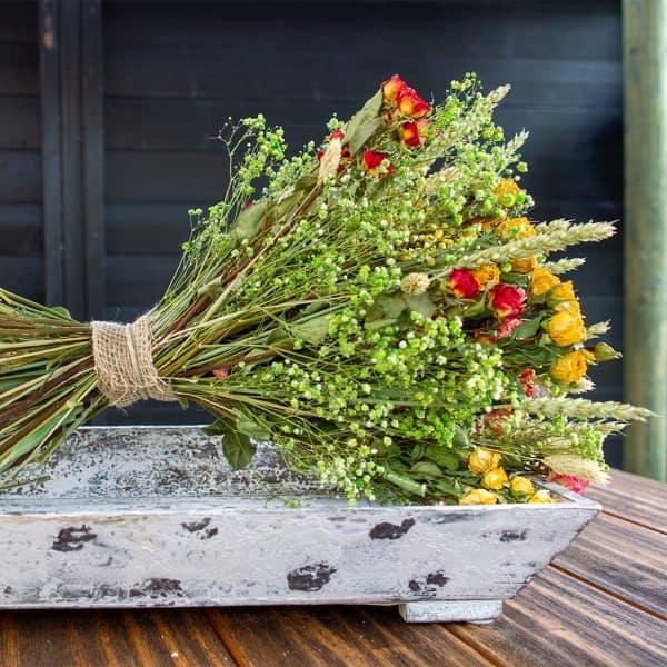 Droogboeket Roselin Rozenfestival 150 roosjes