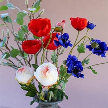 kunstbloemen roselin mobiel