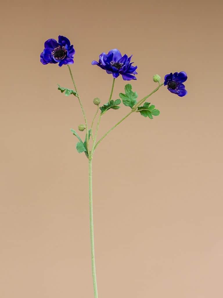 Kunstbloem anemoon paars