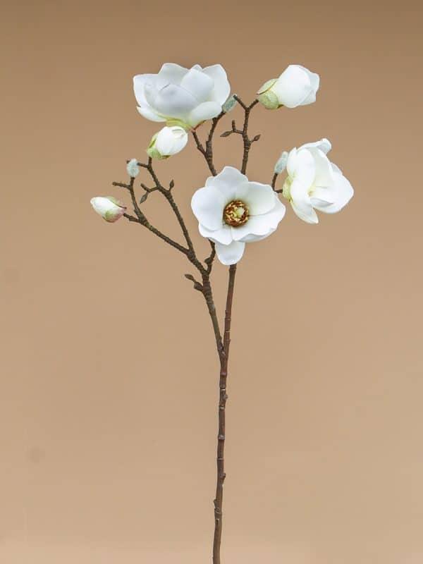 Kunstbloem magnolia wit