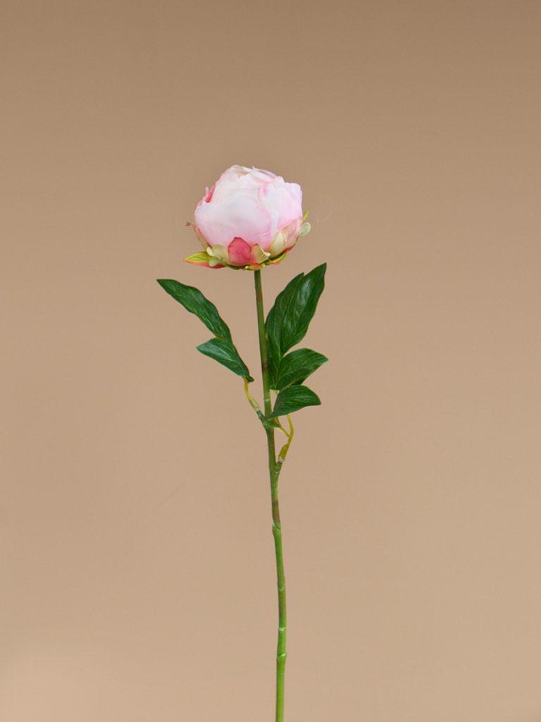 Kunstbloem pioen licht roze