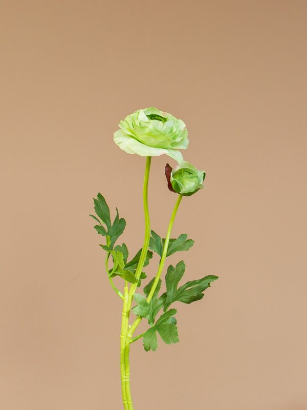Kunstbloem ranonkel groen