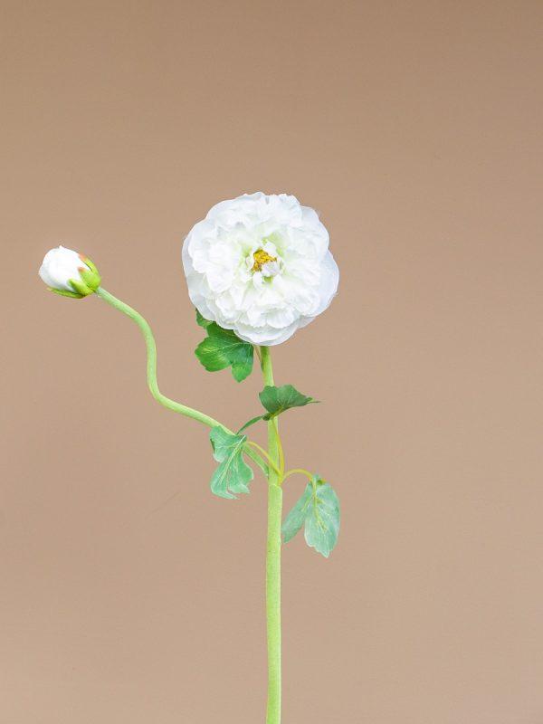 Kunstbloem ranonkel wit