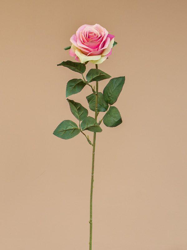 Kunstbloem roos hartenbreker