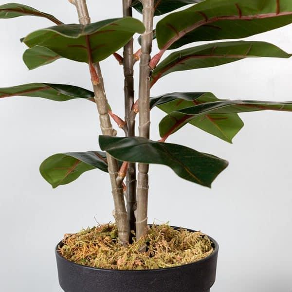 Kunstplant Ficus elastica 130 cm stam