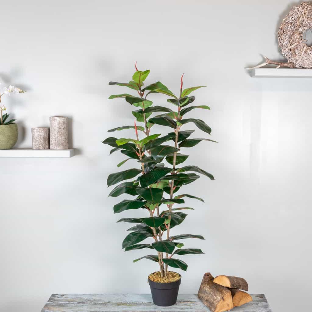 Kunstplant Ficus elastica 130 cm